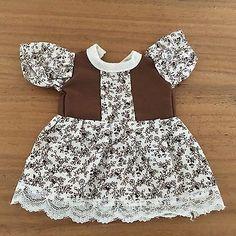 Schoene-alte-Puppenkleidung-kleines-suesses-Kleidchen-50er-60er-Jahre
