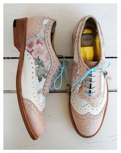 ABO pale pink & floral brogues ♦F&I♦