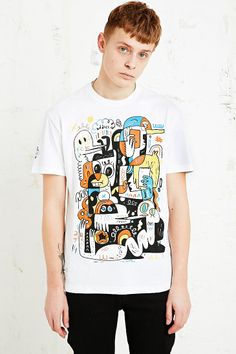 Addict x John Burgerman T-shirt in White