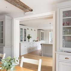 Georgian Farmhouse Project  A lovely shot of the kitchen from just behind the…