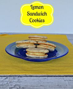 Lemon Sandwich Cookie start with buttery lemon cookies and are topped ...