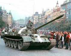 August Soviet led Warsaw Pact forces invade Czechoslovakia to put an end to the uprising known as Prague Spring. Prague Spring, T 62, Warsaw Pact, Tank Armor, Military Armor, Tank Design, Battle Tank, Europe, Armored Vehicles