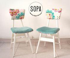 Este par de sillas americanas fue restaurado a pedido en nuestro taller! Este es el resultado final! Se pintaron de blanco incluyendo una ...