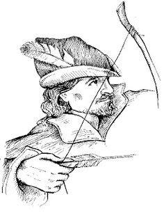 """Did Robin Hood Exist? The oldest known record of him is a folk history called, """"The Ballad of the Guest of Robin Hood"""" and t. Peter Pan Hat, Robin Hood, Maid Marian, Sherwood Forest, Kids Events, Coloring Book Pages, Tattoo Sketches, Boy Drawing, Drawing Board"""