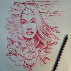 Jason Minauro tattoo drawing