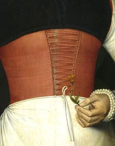 Adriaan van Cronenburg | Portrait of a Lady Holding a Flower (detail) | 1567