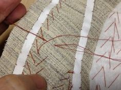 How to Pad Stitch -- Support your fabrics the tailoring way! .| (KEY: hand sewing/tailoring skills, interfacing canvas/horsehair)