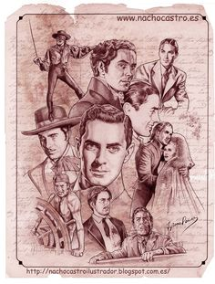 Tyrone Power by NachoCastro on DeviantArt Tyrone Power, Classic Movie Stars, Classic Films, Denis Zilber, Cool Pencil Drawings, Drive In Movie Theater, Star Illustration, Cinema Tv, Celebrity Caricatures