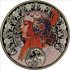 Leo silver coin, with the art of Alfons Mucha
