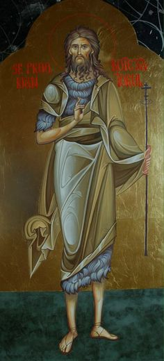 St John sans wings done the correct way. Byzantine Icons, Byzantine Art, Religious Icons, Religious Art, Vampire Stories, John The Baptist, Orthodox Icons, Worship, Saints