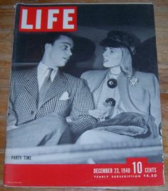 Life Magazine December 23, 1940 Christmas Parties on the Cover