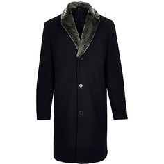 €175.00 Navy wool-blend faux fur collar coat -http://eu.riverisland.com/men/coats--jackets/coats/navy-wool-blend-faux-fur-collar-coat-289366?istCompanyId=23c4e990-2bc6-43e5-80c7-6bc9ac44cc9c&istItemId=qxqmwxaai&istBid=t&mid=38434&cur=USD&cmpid=af_Linkshare_US_PB_J84DHJLQkR4_10&siteID=J84DHJLQkR4-9mYkmJiOUbtB9xhR8Uvn8g