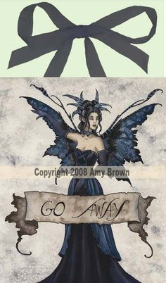 Go Away Tile <BR>by Amy Brown