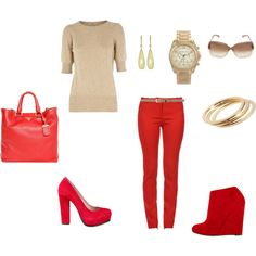<3 red!  cute outfit idea!