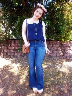 70's inspired flare jeans and heidi braids <3 in a new post