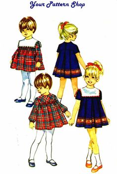 1970s Simplicity 8940 Toddler Girls Yoked Dress by patternshop, $9.99