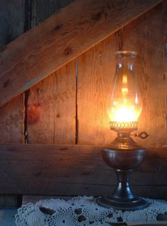 Oil lamp... we had a couple of these around for when the power went out