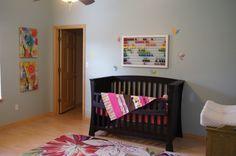 Baby girls nursery- COLORFUL theme
