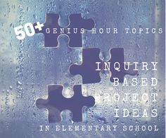 Genius Hour Topics for Elementary School students. You CAN do Genius Hour… Inquiry Based Learning, Project Based Learning, Genious Hour, Kids School Organization, 21st Century Learning, High School Science, Passion Project, Teaching Music, Science Lessons