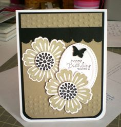 Neutral Mixed Bunch card by Carol Stafford