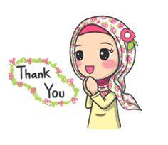 Flower Hijab - LINE Stiker Kreator Love Cartoon Couple, Cartoon Girl Images, Cartoon Pics, Girl Cartoon, Message Wallpaper, Cute Emoji Wallpaper, Muslim Pictures, Islamic Pictures, Emoji People