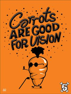 Carrots are good for vision