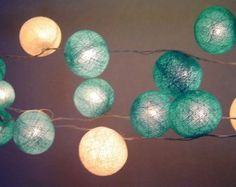 Blue Moons Cotton Ball Fairy Light String: Amazon.co.uk: Kitchen & Home