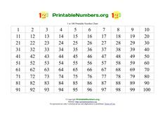 Free Printable Number Chart 1-50 | Classroom Ideas ...