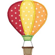 Hot Air Balloon Applique by HappyApplique.com