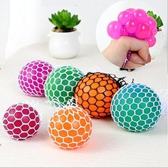 Buy Creative Chlidren's Novelty Tricky Toys Cartoon Funny Squeeze Vent Grape Ball at Wish - Shopping Made Fun Boule Anti Stress, Slime, Wifi Extender, Funny Cartoons, Wish Shopping, Smart Home, Raisin, Candle Holders, Toys