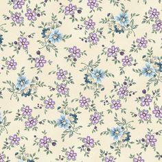Twilight Garden Small Floral Calico Dot By Henry Glass & Co by DivinesFabricNook on Etsy