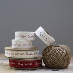 christmas ribbon, tape and string by the wedding of my dreams   notonthehighstreet.com