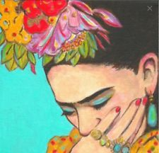 FRIDA KAHLO   --OMG, GORGEOUS! Break this down for a Portrait quilt!!