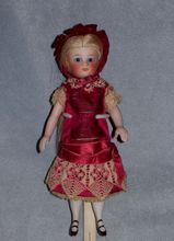 "6"" French-type All-Bisque ~ S&H ~ Original Wig and Dress, Antique Dolls at Faraway Antique Shop"