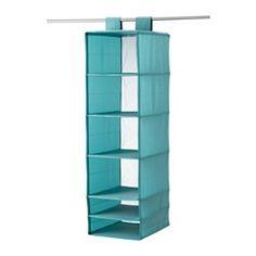 SKUBB, Rangement à 6 compartiments, bleu clair