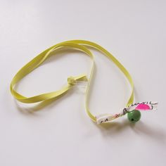 NECKLACE - BELL RiBBON-GREEN