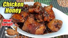 CHICKEN HONEY - THE EASIEST CHICKEN DISH TO COOK! TASTY AND SWEET! Happy Pills, Chicken Legs, Breakfast Recipes, Pork, Honey, Cooking Recipes, Tasty, Dishes, Meat