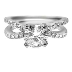 1.67 ct E SI1 ROUND CUT DIAMOND ENGAGEMENT RING 14k WG http://www.larrysfinejewelryinc.com/