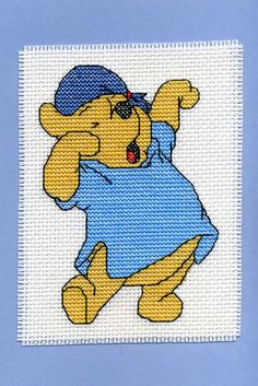 Newest creation available at http://www.etsy.com/listing/130863973/winnie-the-pooh-yawning-cross-stitch