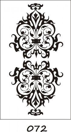 Bar Design, Design Studio, Glass Design, Damask Stencil, Stencil Patterns, Stencils, Border Pattern, Pattern Art, Calligraphy Letters Alphabet