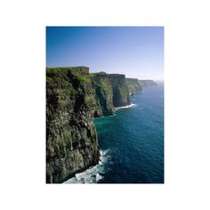 Cliffs of Moher, County Clare, Ireland Photographic Wall Art Print ($35) ❤ liked on Polyvore featuring home, home decor, wall art, europe, european nations, ireland, subjects, travel, world regions and european home decor
