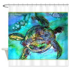 Sea Turtle, Wildlife Art! Shower Curtain