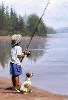 Richard MacNeil niño pescando