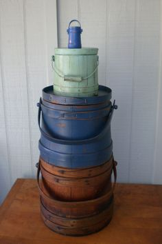 Small Firkin Top Of Stack Vintage Primitive by redshedvintage, $15.00