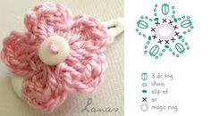 flor al crochet - Buscar con Google
