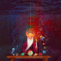 Art by Jay kullar Guru Nanak Photo, Guru Nanak Ji, Nanak Dev Ji, Religious Photos, Religious Art, Sai Baba Hd Wallpaper, Wallpaper Backgrounds, Mandala Design, Mandala Art