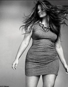 Tara Lynn  Not one of these skinny top models.