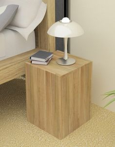 atlas chunky oak hidden home. this is a stunning modern block lamp table from our atlas oak range chunky hidden home