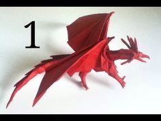 Origami Ancient Dragon tutorial (Satoshi Kamiya) - part 1 - YouTube