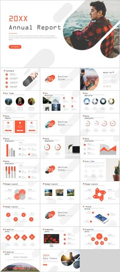 red creative annual report PowerPoint templates – The highest quality PowerPoint Templates and Keynote Templates dow Powerpoint Design Free, Professional Powerpoint Templates, Creative Powerpoint Templates, Powerpoint Presentation Templates, Powerpoint Presentations, Infographic Powerpoint, Ppt Template Design, Professional Powerpoint Presentation, Report Template
